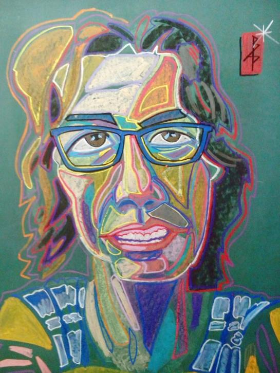 Kat Abstract chalk